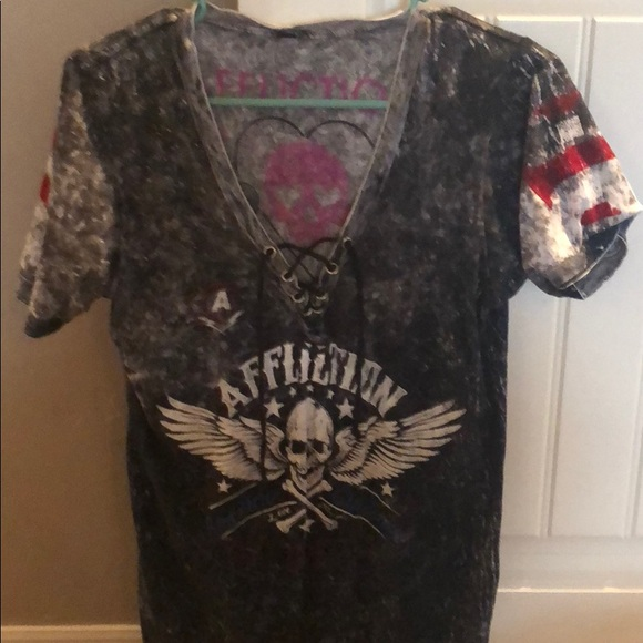 Affliction Tops - AFFLICTION reversible tee